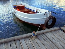 Free Lifebuoy In Fishing Boat Stock Photo - 17130690