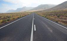 Free Road On Lanzarote Royalty Free Stock Photo - 17130965