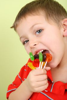 Free Lollipop Boy Royalty Free Stock Photography - 17131317