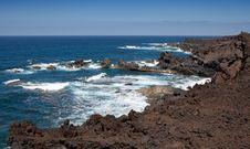Free Lanzarote Coastline Royalty Free Stock Photo - 17131435