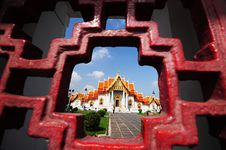 Free Marble Temple In Thailand Royalty Free Stock Image - 17132036