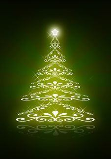 Free Abstract Green Christmas Tree Stock Images - 17132564