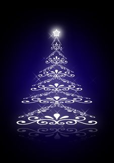 Free Abstract Christmas Tree Stock Photos - 17132603