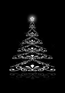 Free Abstract White Christmas Tree Royalty Free Stock Photography - 17132607