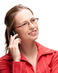 Free Happy Businesswoman On Phone Stock Images - 17133504