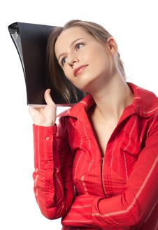 Businesswoman Dreaming Royalty Free Stock Photo