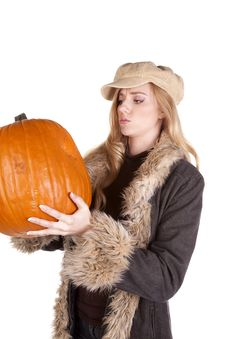 Free Wondering What To Do With Pumpkin Royalty Free Stock Image - 17133716
