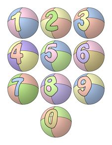 Free Balloon Numbers Stock Photos - 17133923