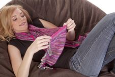 Free Playing With Scarf Stock Photos - 17133993