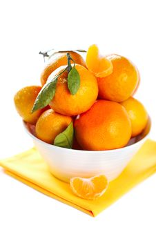 Tangerine In Bowl Royalty Free Stock Photography