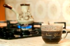 Free Coffee Preparation In A Turk Royalty Free Stock Image - 17134666