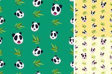Free Panda Bamboo Pattern Stock Photos - 17134673