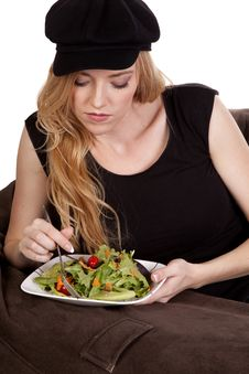Free Eating Salad Royalty Free Stock Photo - 17134985