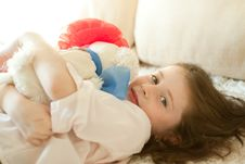 Free Girl With A Toy Royalty Free Stock Photography - 17135787