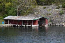 Free Old Boathouse Royalty Free Stock Image - 17135906