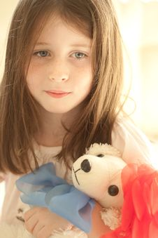 Free Girl With A Toy Stock Photo - 17136040