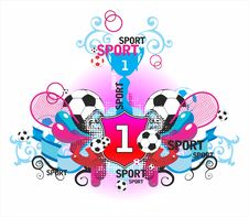 Free Very Beautiful Symmetric Sports Composition With B Royalty Free Stock Image - 17136366