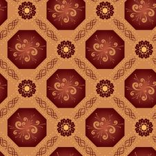 Free Beige Vector Geometrical Texture With Octagons Royalty Free Stock Photography - 17136747