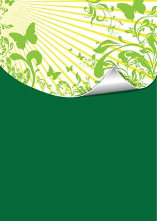 Free Green Floral Pattern Stock Photography - 17136922