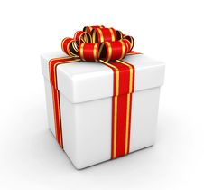 Free Gift Box - 3d Render Royalty Free Stock Images - 17137039
