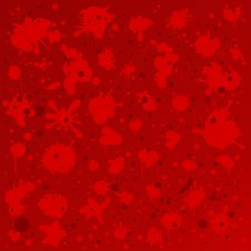 Free Red Background With Blurs Royalty Free Stock Images - 17137339