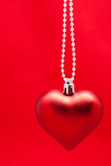 Free Christmas Toy Red Heart Stock Photo - 17137600