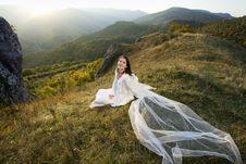 Free Romantic Woman On Field Stock Photos - 17138453