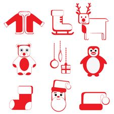 Free Christmas Icon Royalty Free Stock Image - 17138726