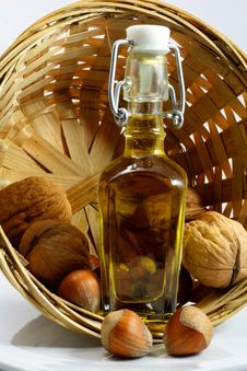 Free Basket Of Walnuts And Hazelnuts Stock Photos - 17138983