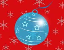 Free Blue Glass Christmas Ball Stock Photography - 17139772