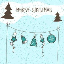 Free Christmas Card Royalty Free Stock Photos - 17139908