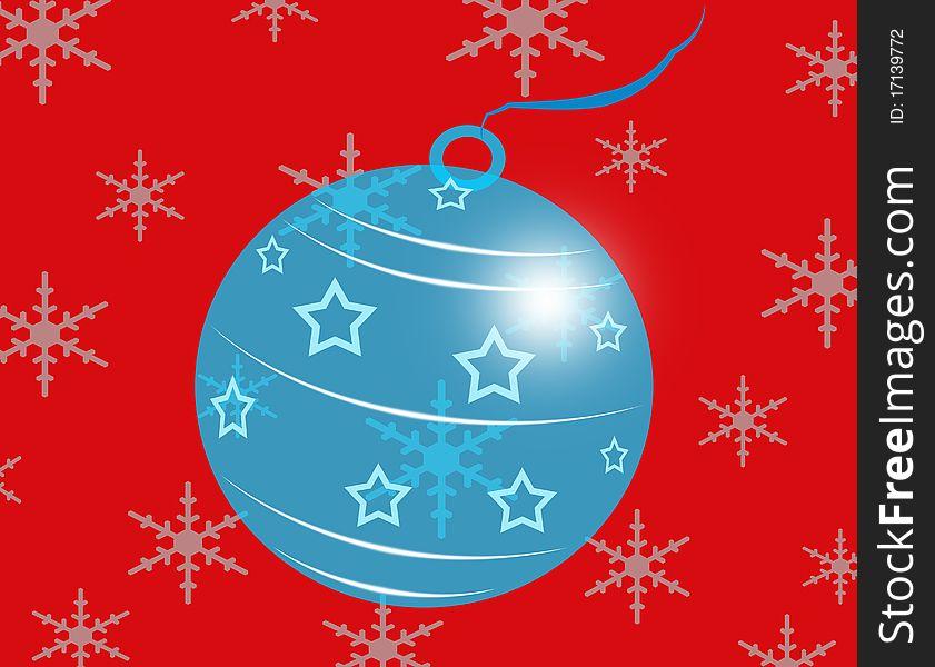Blue Glass Christmas Ball