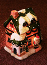 Free Little Toy House With Santa Claus And Candle In Stock Images - 17148014