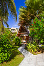 Free Bungalow In Hotel At Tropical Beach Royalty Free Stock Photos - 17148878