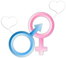 Male Female Sign Bubbles Royalty Free Stock Images