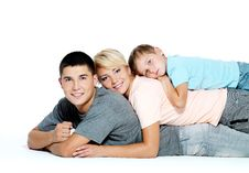 Free Portrait Of A Happy Young Family Stock Photo - 17140850