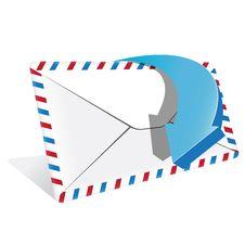 Free Envelope And Blue Arrow Stock Photos - 17141723