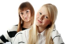 Free Portrait Two Girls Royalty Free Stock Photography - 17142917