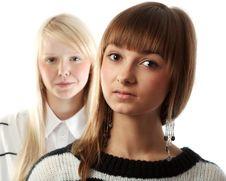 Free Portrait Two Girls Stock Photo - 17142970