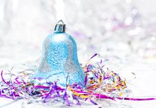 Free Blue Christmas Bell Stock Image - 17143361