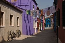 Free Colorful Burano Street Royalty Free Stock Images - 17143419