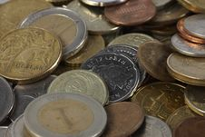 Free Coins Royalty Free Stock Photography - 17143917