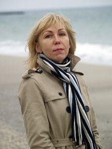 Free Woman On Sea Shore Stock Photography - 17144102