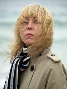 Free Woman On Sea Shore Stock Image - 17144181