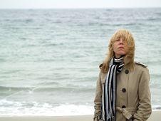 Free Woman On Sea Shore Stock Photography - 17144222