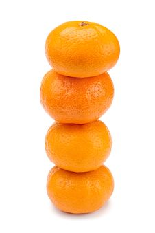 Tangerine In A Row Royalty Free Stock Images