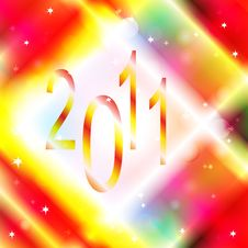 Colorful Background 2011 Royalty Free Stock Photo