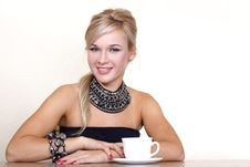Free Woman With Cup Of Hot Drink Royalty Free Stock Photography - 17145347