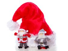 Free Two Santa Claus Christmas Hat Royalty Free Stock Photos - 17145408