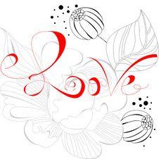 Free Inscription Love Royalty Free Stock Photography - 17145757